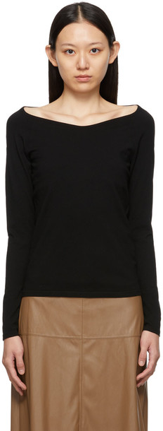 Max Mara Leisure Black Atilla Long Sleeve T-Shirt