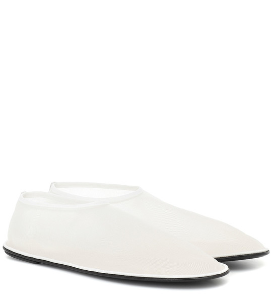 The Row Sock ballet flats in white