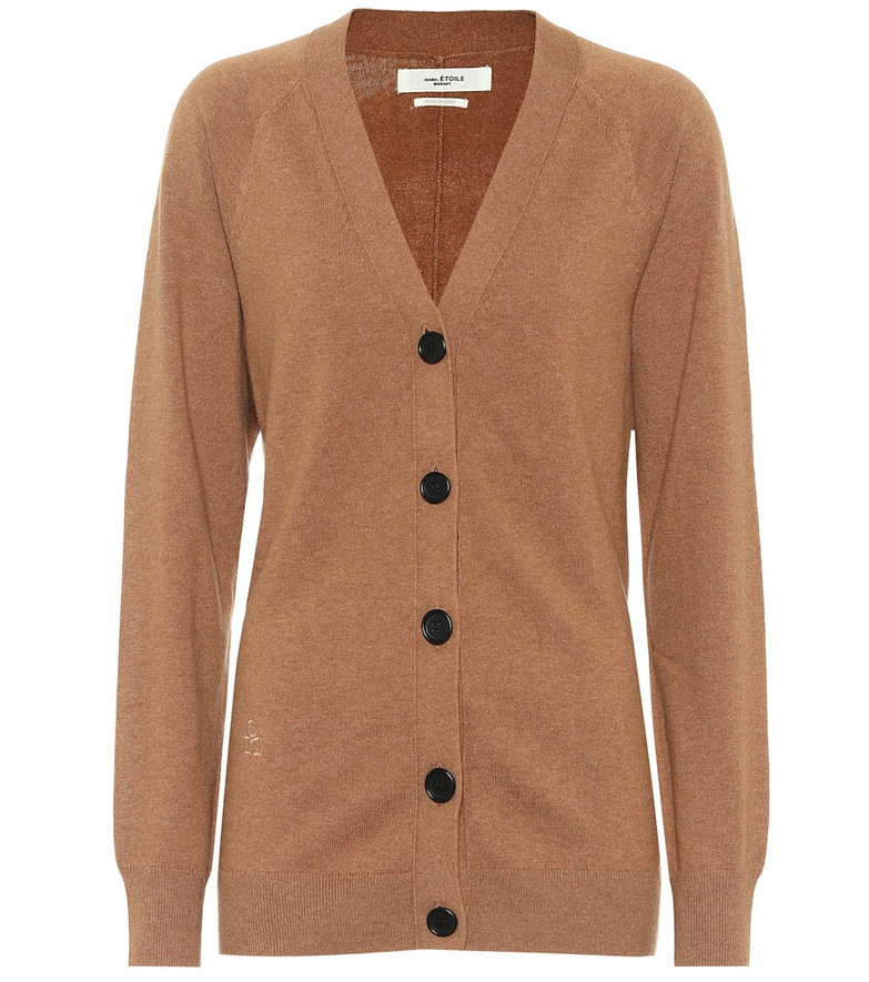 Isabel Marant, Étoile Karrick cotton and wool cardigan in brown