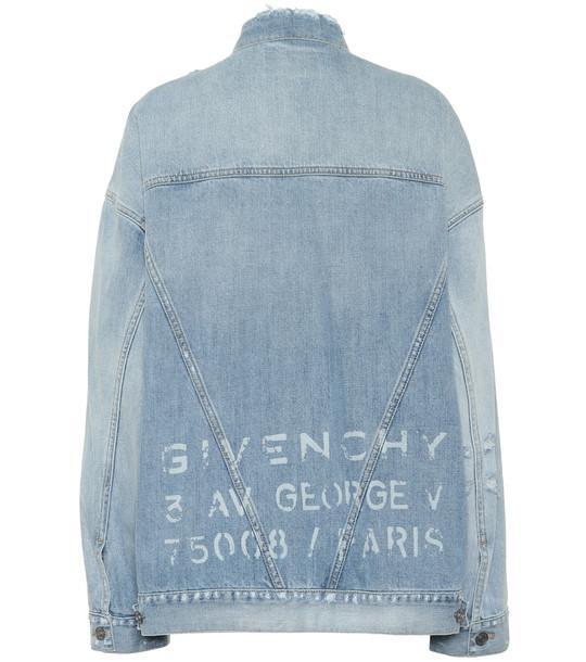Givenchy Oversized denim jacket in blue