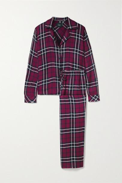 Rails - Clara Checked Flannel Pajama Set - Claret