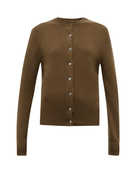 Extreme Cashmere - No. 99 Little Cashmere Blend Cardigan - Womens - Brown