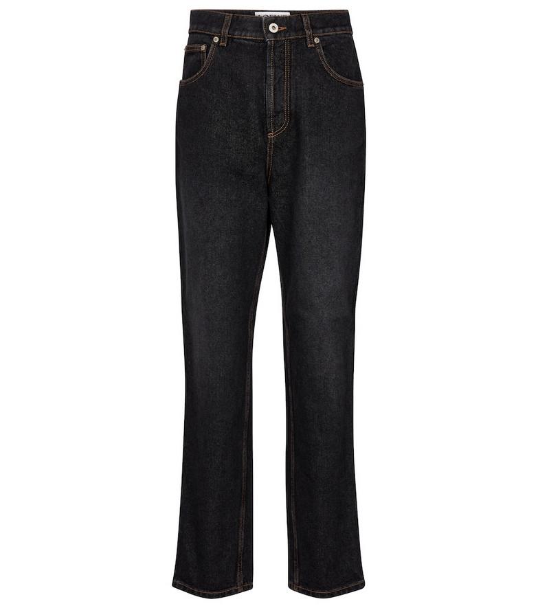 Loewe High-rise slim jeans in black