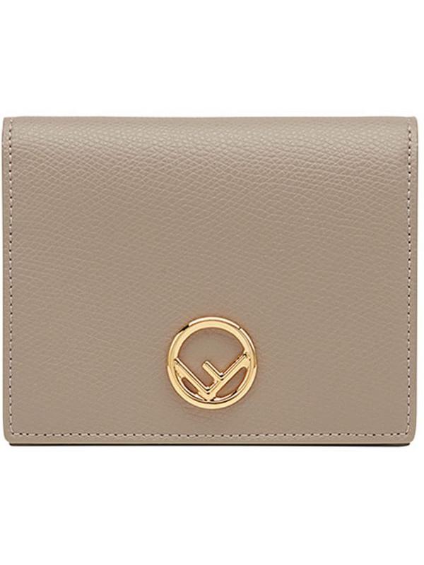 Fendi billfold purse in neutrals