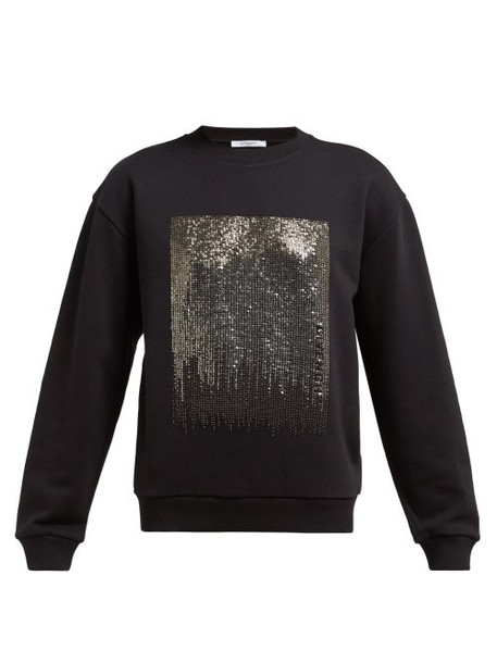 Givenchy - Silver Sequinned Jersey Sweatshirt - Womens - Black Multi