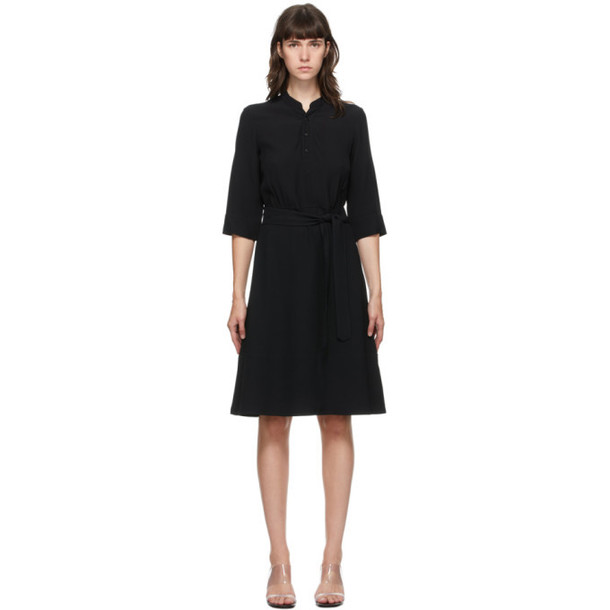 A.P.C. A.P.C. Black Oleson Mid-Length Dress