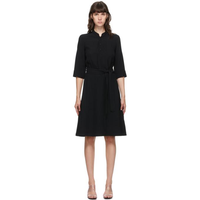 A.P.C. A.P.C. Black Oleson Mid-Length Dress