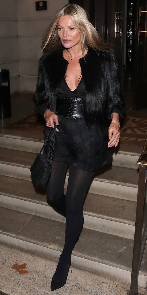 jacket kate moss all black everything fur jacket cropped jacket mini dress celebrity