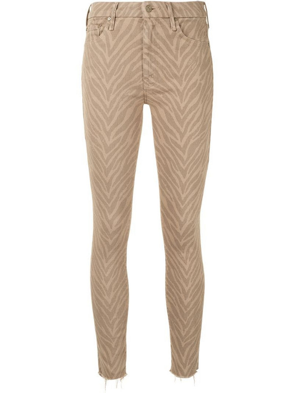 Mother Looker mid-rise skinny jeans in brown