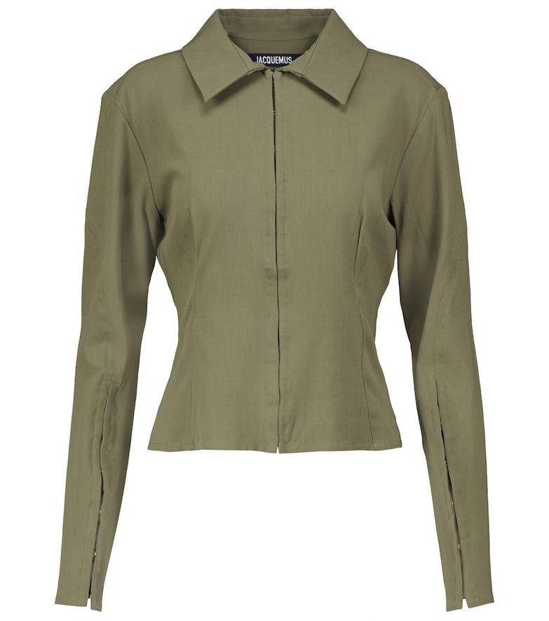 Jacquemus La Chemise Obiou shirt in green