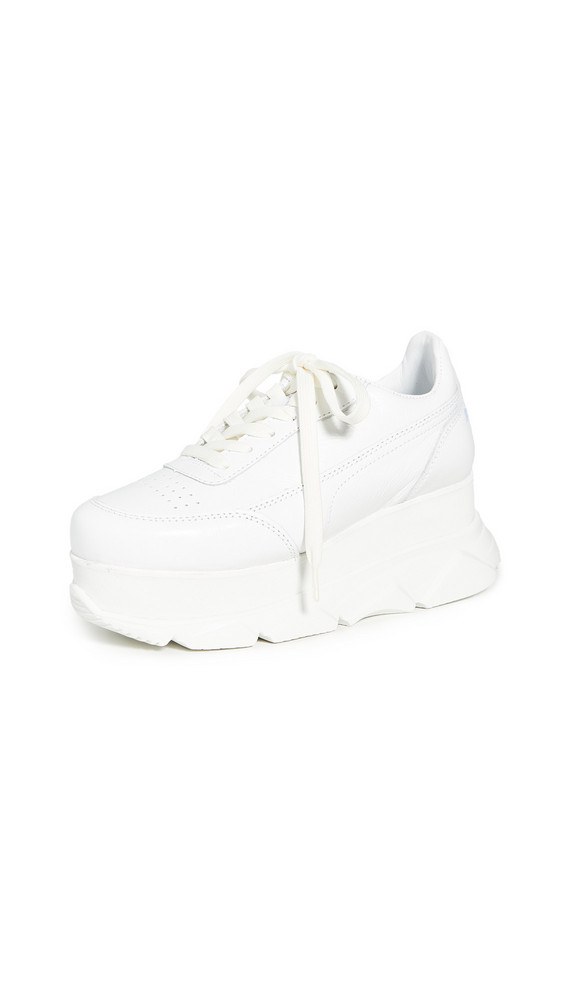 Joshua Sanders Zenith Wedge Sneakers in white