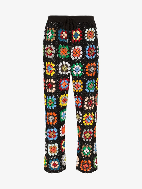 Ashish patchwork crochet track pants