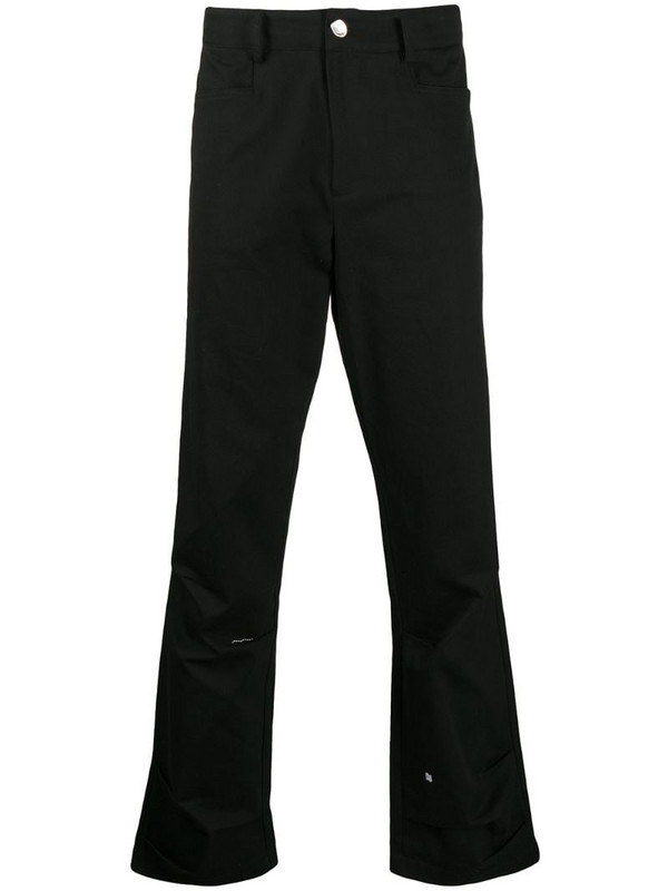 Ader Error mid-rise straight-leg jeans in black