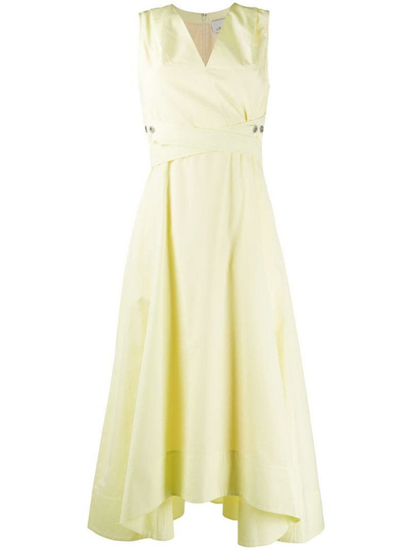 3.1 Phillip Lim sleeveless V-neck poplin dress in yellow