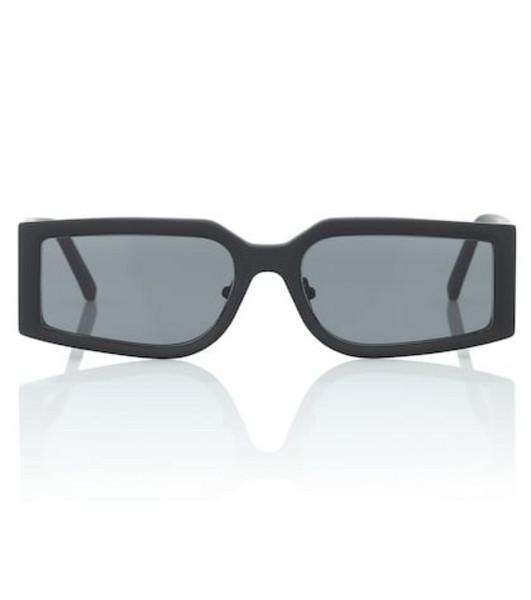 Self-Portrait Eden rectangular sunglasses in black
