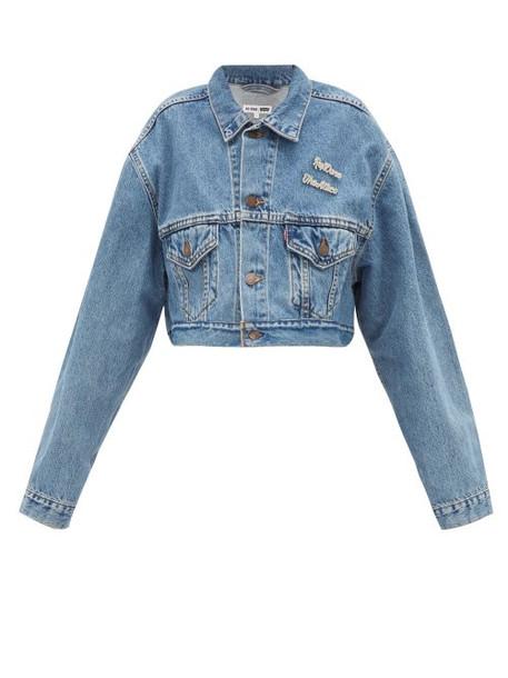 Re/done Originals - X The Attico Cropped Denim Jacket - Womens - Denim