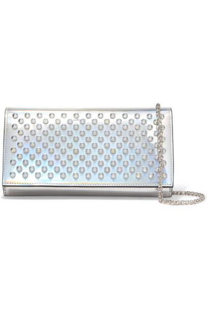 844483c10d0 Christian Louboutin - Boudoir Spiked Iridescent Leather Shoulder Bag -  Silver