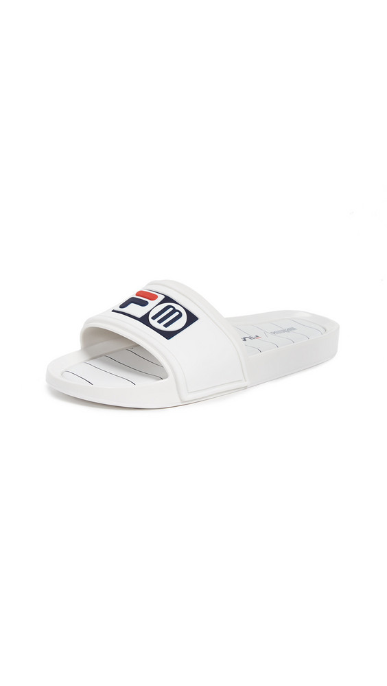 Melissa x Fila Slides in blue / white