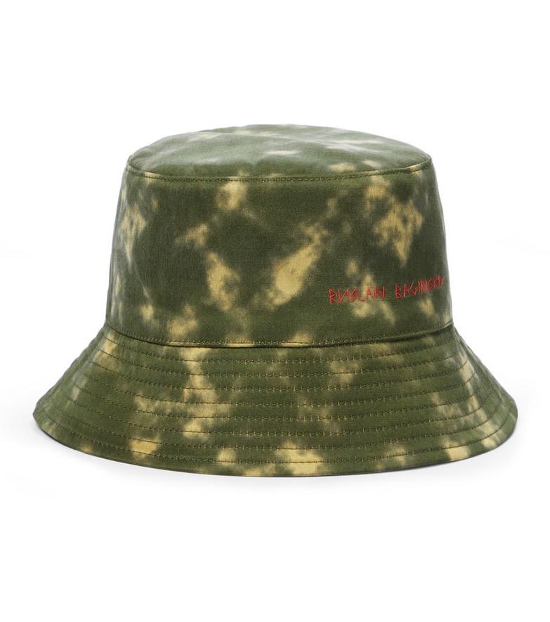Ruslan Baginskiy Tie-dyed bucket hat in green