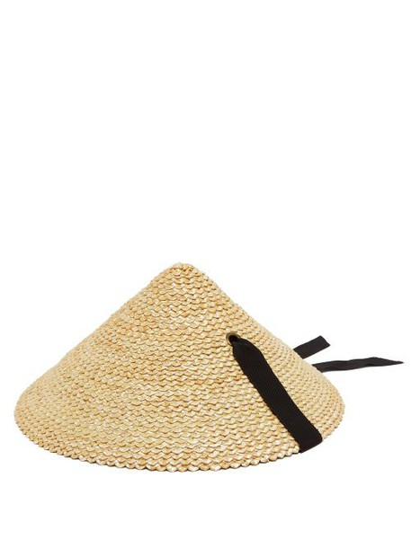 Lola Hats - Pine Cone Straw Hat - Womens - Black