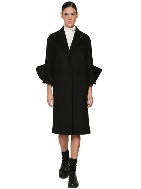 VALENTINO Wool & Cashmere Coat in black