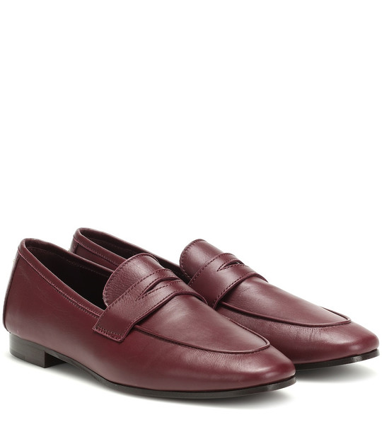 Bougeotte Leather loafers in red