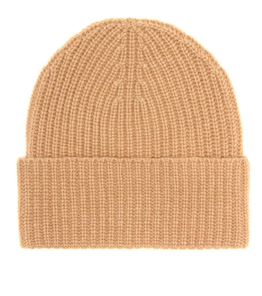 Agnona Ribbed cashmere beanie in brown