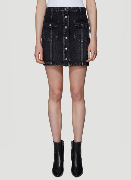 Saint Laurent Denim Skirt in Black size 27