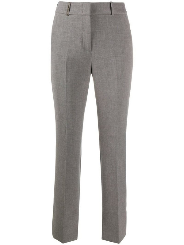 Peserico bootcut twill trousers in grey