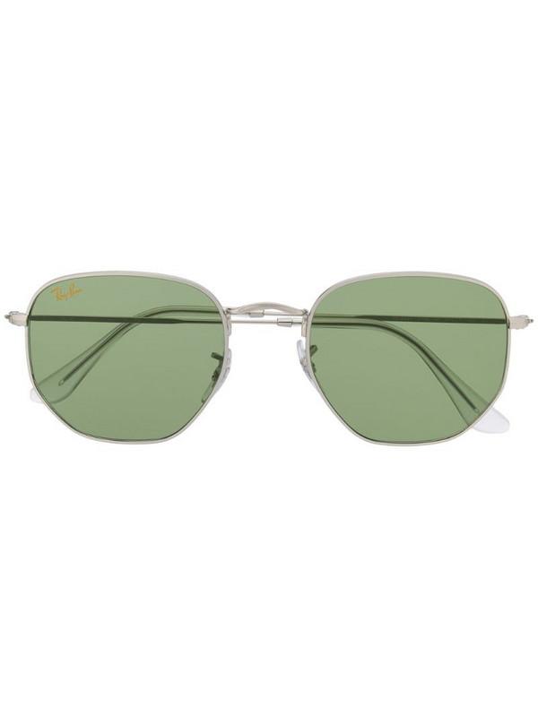 Ray-Ban two-tone hexagonal-frame sunglasses in metallic