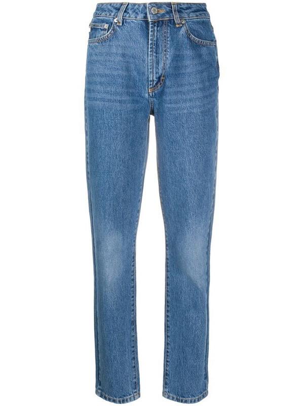 Fiorucci Tara tapered jeans in blue