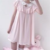 dress,pink,pastel,pastel dress,pastel pink dress,pastel pink,this pastel pink dress!!,kawaii,kawaii dress
