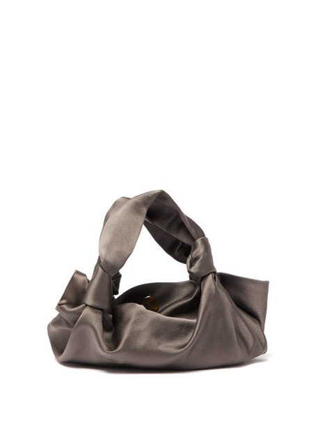 The Row - The Ascot Satin Clutch Bag - Womens - Grey