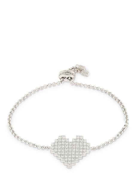 APM MONACO Silver Pixel Heart Bracelet