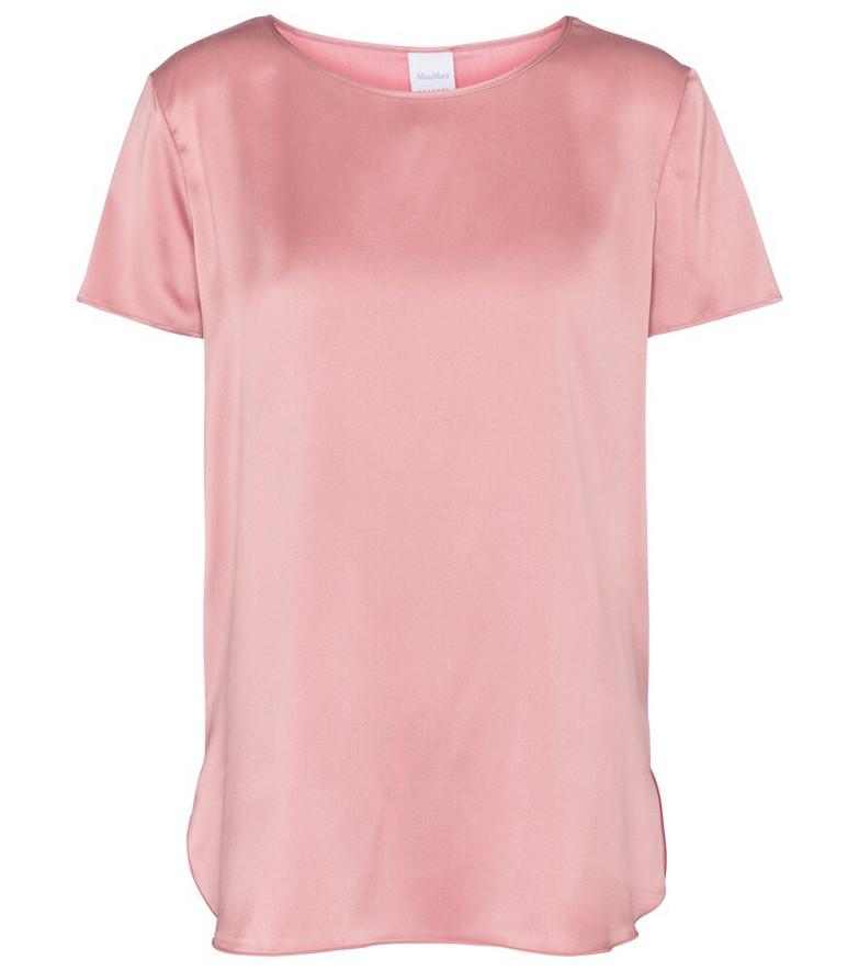 Max Mara Cortona stretch-silk top in pink