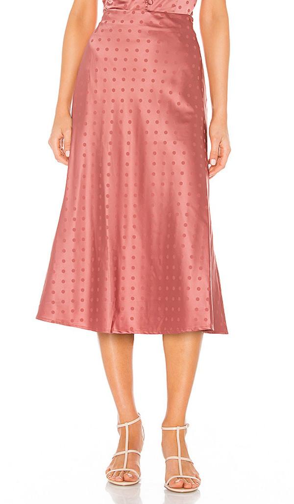 Lovers + Friends Lovers + Friends Madalena Midi Skirt in Pink