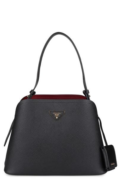 Prada Matinée Saffiano Leather Bag in black
