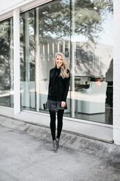 krystal schlegel,blogger,jacket,tank top,jeans,shoes,skirt,tights,blouse