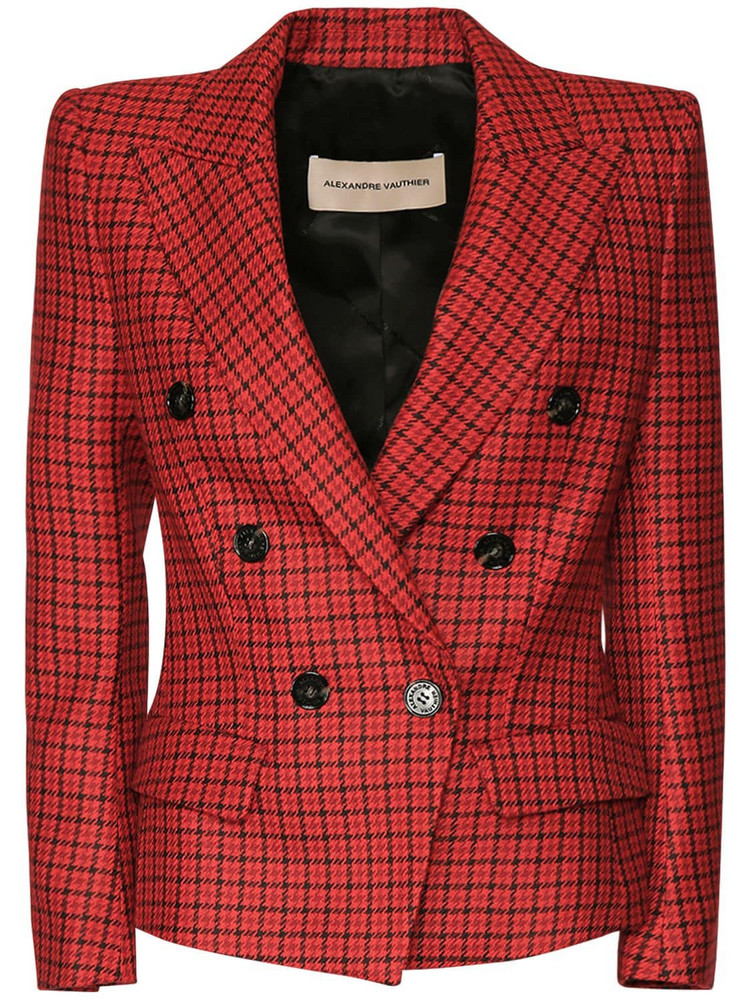ALEXANDRE VAUTHIER 6 Bttn Check Wool Blazer