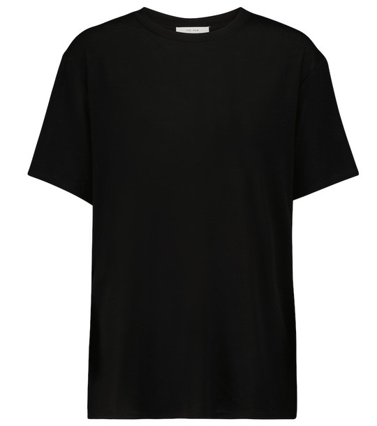 The Row Dedolo lyocell and cashmere-blend T-shirt in black