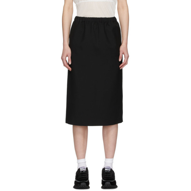 Comme des Garcons Comme des Garcons Black Wool Pull-On Skirt