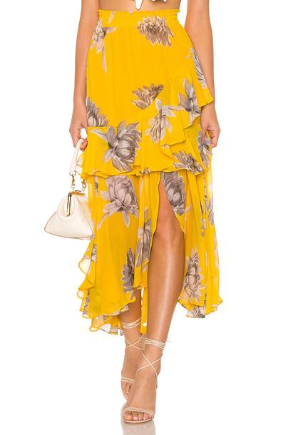 MISA Los Angeles Randi Skirt in yellow