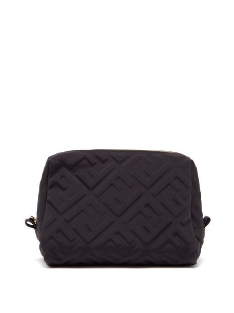 Fendi - Ff-embossed Neoprene Makeup Bag - Womens - Black