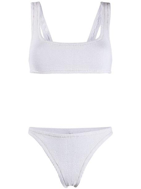 Reina Olga Ginny Scrunch bikini in white