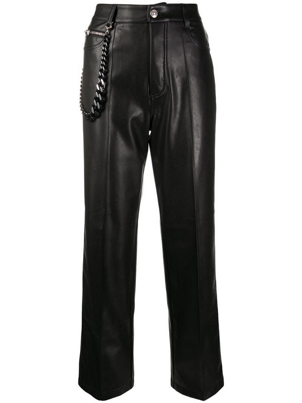 Ermanno Scervino high-waisted straight leg trousers in black