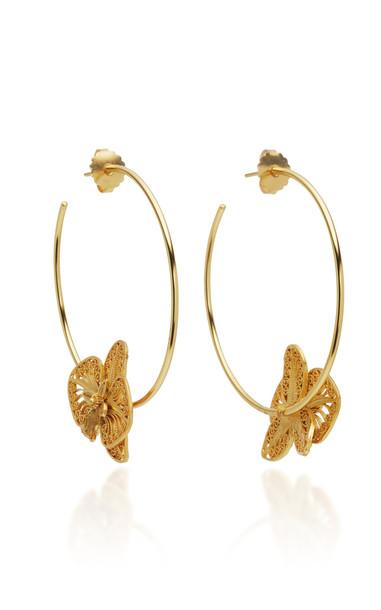 Mallarino Orquidea 24K Gold Vermeil Hoop Earrings