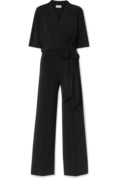 By Malene Birger - Zhou Wrap-effect Stretch-crepe Jumpsuit - Black