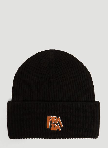 Prada Prada Logo Knit Hat in Black size S