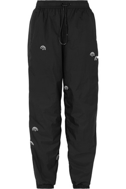 Adidas Originals By Alexander Wang - Appliquéd Shell Track Pants - Black