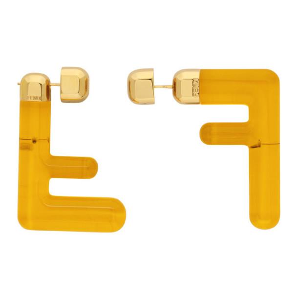 Fendi Yellow Medium FF Earrings